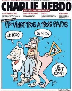 Foto de reproducão do Jornal Charlie Hebdo